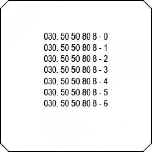 Rufnummernblock